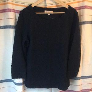 Navy textured sweatshirt
